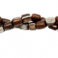 Perles coquillage tube Marron