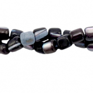Perles coquillage tube Noir anthracite
