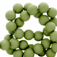 Perles acryliques 8 mm Vert olive