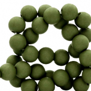 Perles acryliques 8 mm Vert olive dusty