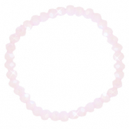 Bracelets perles à facettes 6x4mm Rose pink clair-pearl shine coating