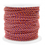 Cordelette 2mm Orange-violet