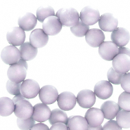 Perles Super Polaris rond 6mm mat Lilas pastel