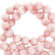 Perles Super Polaris rond 6mm mat Rose hortensia