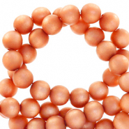 Perles Super Polaris rond 6mm mat Orange vibrante