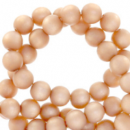 Perles Super Polaris rond 8mm mat Pêche blush