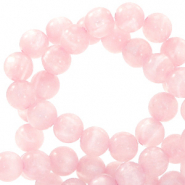 Perles Polaris rond 8mm Mosso shiny Rose hortensia