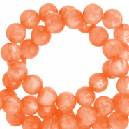 Perles Polaris rond 6mm Mosso shiny Orange vibrante