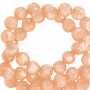 Perles Polaris rond 6mm Mosso shiny Pêche blush