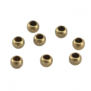 Métal DQ perles à écraser 3mm bronze antique (sans nickel)
