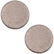 Cabochon plat 20mm Polaris soft tone mat marron chocolat foncé