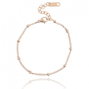 Stainless steel bracelet ball Rose gold