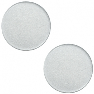 Cabochon plat 12mm Super Polaris gris glace