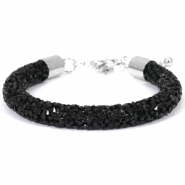 Bracelets Crystal Diamond 8mm nois de jais