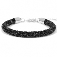 Bracelets Crystal Diamond 7mm nois de jais