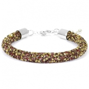 Bracelets Crystal Diamond 8mm greige-bronze