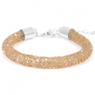 Bracelets Crystal Diamond 8mm topaze fumée