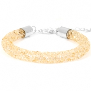 Bracelets Crystal Diamond 8mm Bisque beige