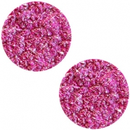 Cabochon plat 12mm Polaris Elements Goldstein fuchsia