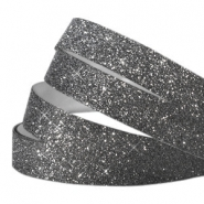 Tape 10mm crystal glitter noir