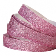 Tape 10mm crystal glitter fuchsia