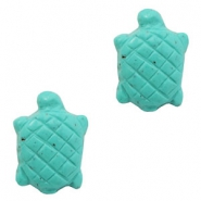 Perles acryliques DQ tortue turquoise