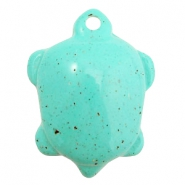 Breloques acryliques DQ tortue turquoise