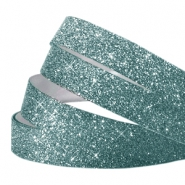 Crystal glitter tape 10mm bleu lagon