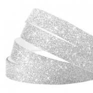 Crystal glitter tape 10mm argenté